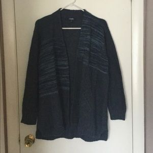 Chaps navy open sweater